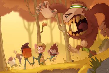 Bigfoot Chase! by Zatransis