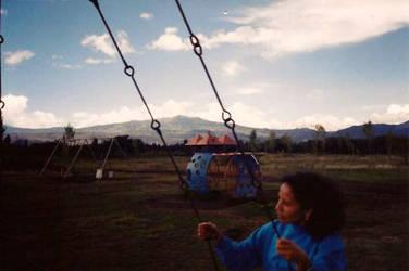 Woman on Swing by paulkarpinski