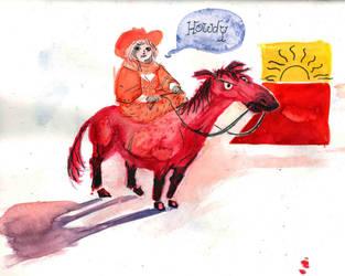 horsey sunset by evomc