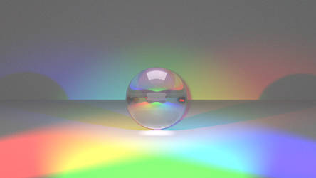 Blender Render - Glass ball rainbow by Rokusz