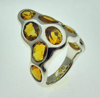 Citrine Sterling Silver Ring by orfeujoias
