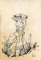 Roman Girl Pencil Sketch by nedivory