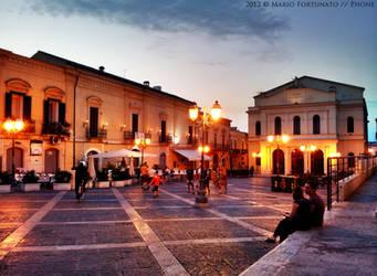 Cerignola - Piazza Matteotti Illuminata by skullkill88