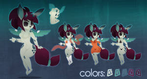 Rabbit Fox Girl Character by zombie