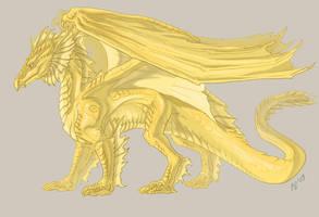 Gift: Golden dragon by Kerneinheit