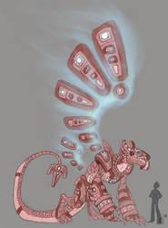 Celestial dragon - OC design by Kerneinheit