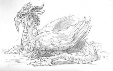 Dragon doodle by Kerneinheit
