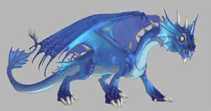 Semi-aquatic dragon by Kerneinheit
