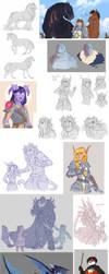 Warcraft sketch dump by Kerneinheit