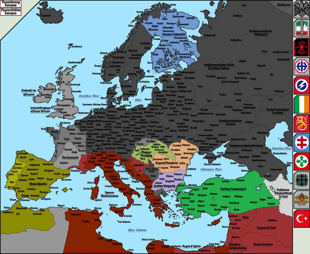 Nazi Map Of Europe.Nazi Map Of Europe 4 By Totentanz0 On Deviantart