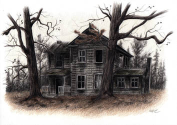 The House at the Edge of the Woods by AmbergrisElement