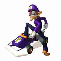 Waluigi in Mario kart DS by WarioandWaluigiClub