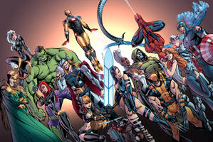 Avengers by J. Scott Campbell - Colour by Furlani