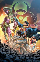 Justice League #37 - Cover by Furlani