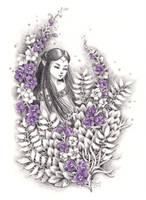 Purple Delphinium by ShannonValentine