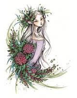 Elven Maid - Inktober #28 by ShannonValentine