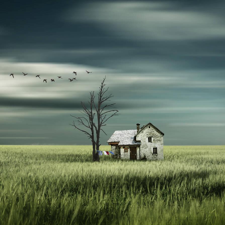 Wohnen im gruenen by Bildmalerin