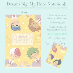Dream Big notebook preview by OmiOhMy