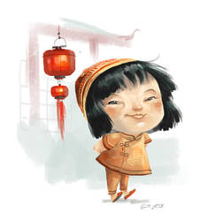 Doodle 244 - little chinese kid by giovannag