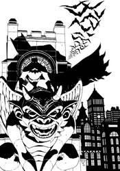 Batman on Gargoyle by PORTELA