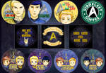+ Star Trek Badges and Stickers + by LittleLadyPunk