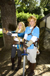 Breath of the Wild: Link and Zelda by MegaJLan