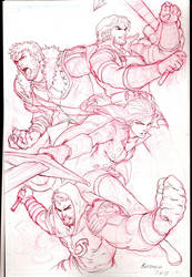 Mikael's Team Red Sketch by Kandoken