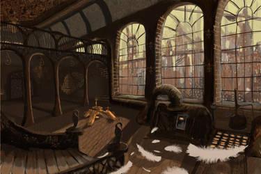 Perdido Street Station - Izak's Laboratory by rivendel-on