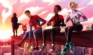 Fanart Spiderman into the spider verse by Melokmel