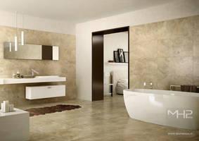 Marble  Bathroom by lolloide