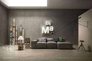 modern living room by lolloide