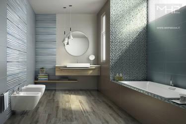Bathroom_Blue_white by lolloide