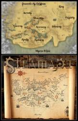 Mapa: Terras Baixas by mushisan