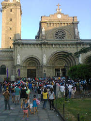 Manila Cathedral at Maundy Thursday by emperor-angelo-xxv