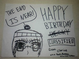 Happy Belated Birthday Becky! by FanficAvenue