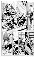 Spiderman vs Predator page1 by cuccadesign