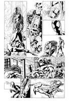 SPIDERMAN VS PREDATOR PAGE 3 by cuccadesign