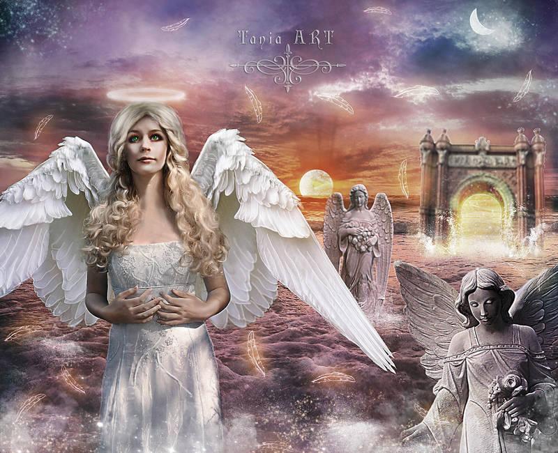 Gabrielle - The Protector of Heaven's Door by TaniaART