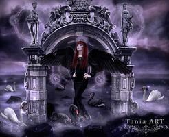 Black Swan Rising by TaniaART