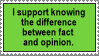 Fact and Opinion by Scarecrow--Stamps