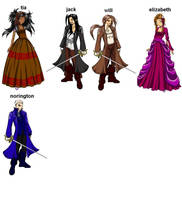 pirates of the caribbean peopl by tia1