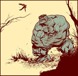 Hulk vs. Birdie by ChristianNauck