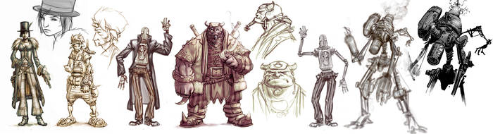 Clockwork people concepts by ChristianNauck