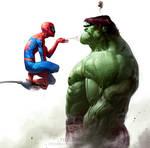 Spidey vs. Hulk by ChristianNauck