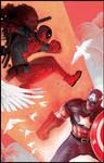 Deadpool vs. Cap by ChristianNauck
