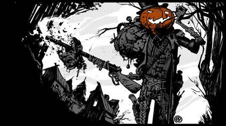 Gunslinger Pumpkin by ChristianNauck