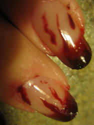 Vampire Nails by MyChemicalRosalee