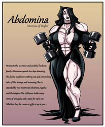 Abdomina Mistress of Might by First-Second
