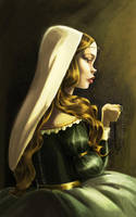 .:Fair maiden colored:. by Marmottegarou