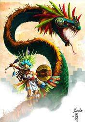 .:Quetzalcoatl dancer:. by Marmottegarou